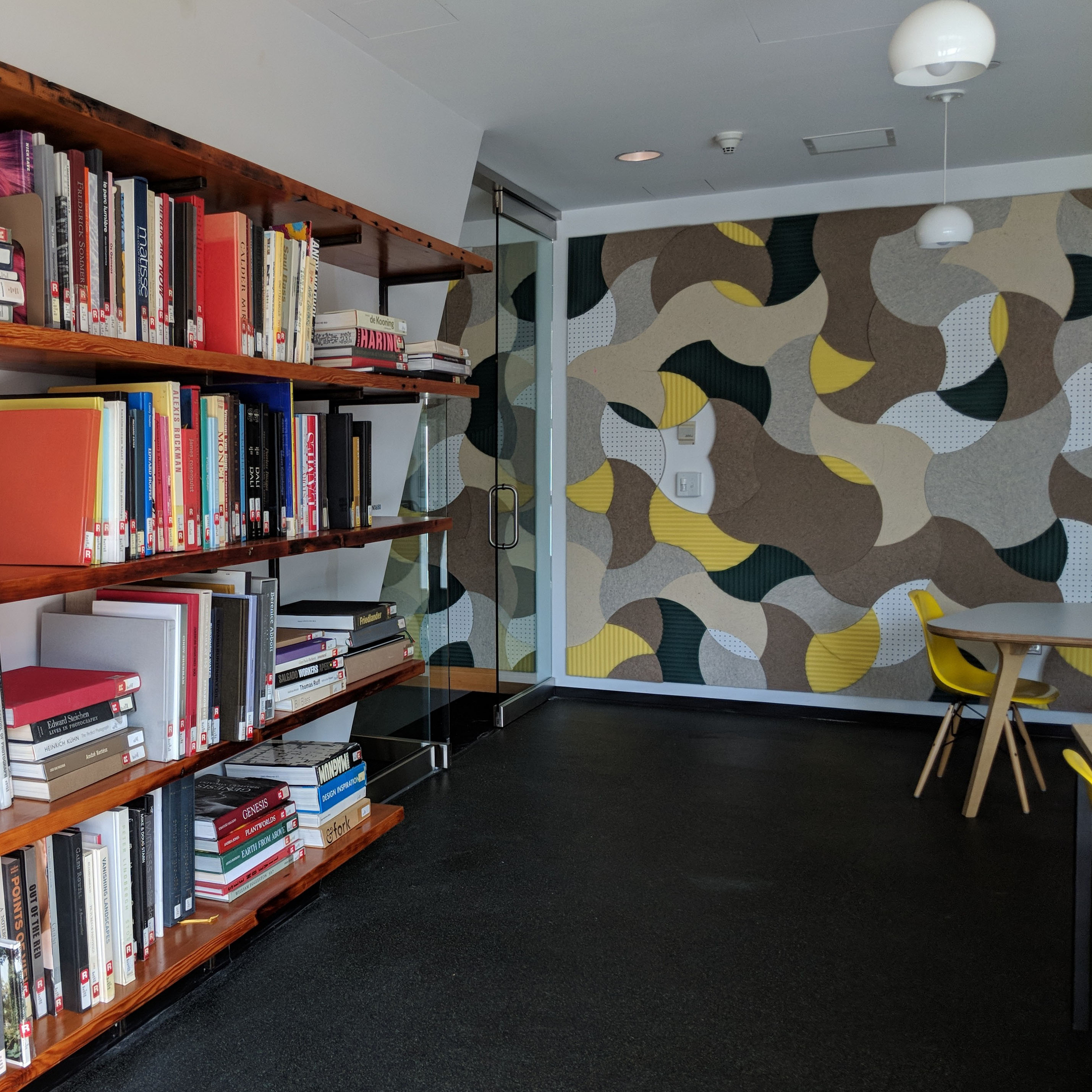 image of library shelves